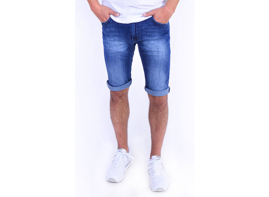 Tapered-Fit Shorts aus Stretch-Denim 101