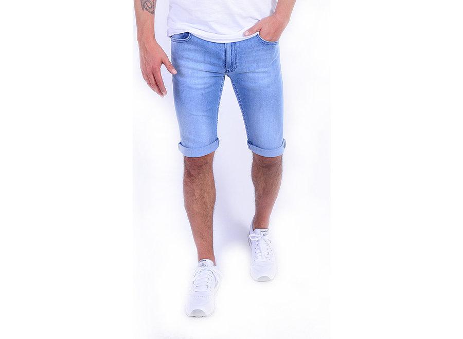 Tapered-Fit Shorts aus Stretch-Denim 104