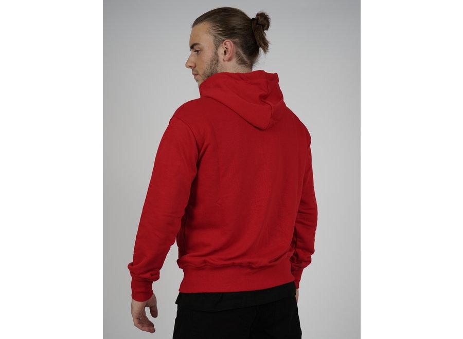 Zip Hoodie Initial - Rot
