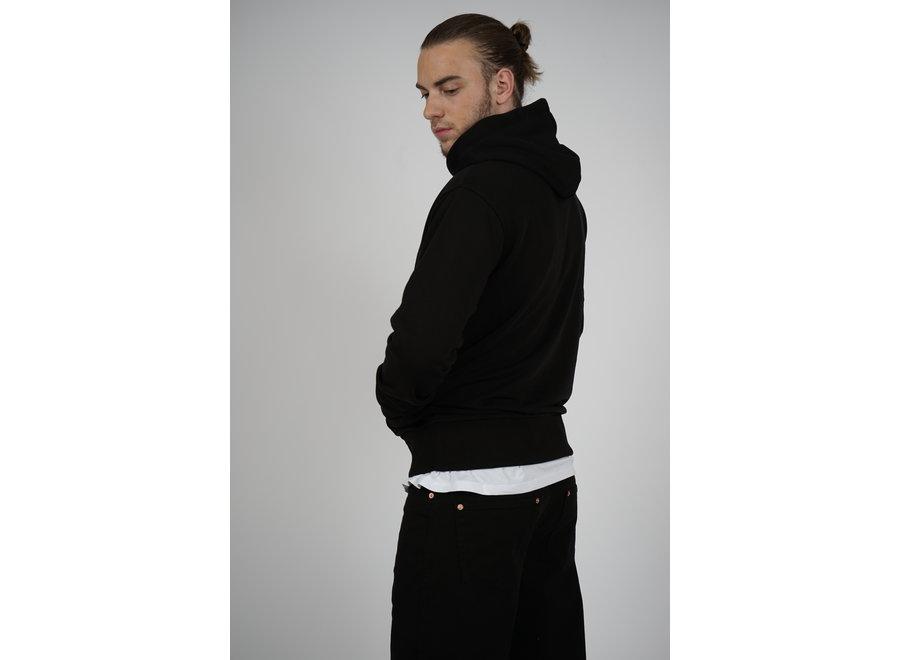 Zip Hoodie Initial - Black