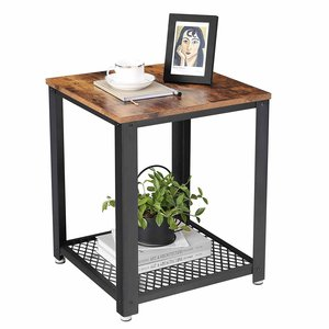 O' DADDY - Home & Living Sidetable wood | side table industrial with metal frame | 45x45x55