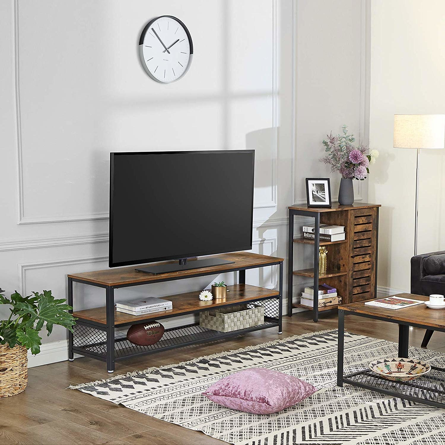 Tv Furniture Wood With Metal Suitable