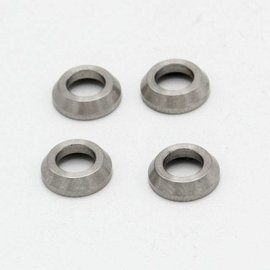 Mecatech Racing Front wheelhub spacer short -4mm, 4 pcs
