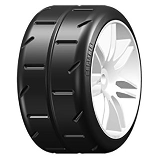 GRP S1 SuperSoft - Mounted on White Wheel - 1 Pair