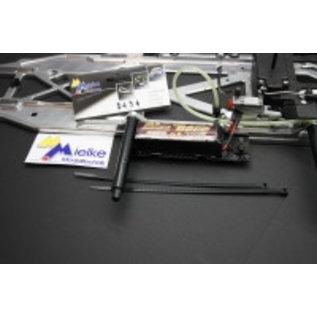 Mielke Modelltechnik Akku / Transponderhouder uit Carbon