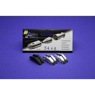 Mielke Modelltechnik Koppelingsschoenen Mix (2 x Alu / 1 x Carbon) Set