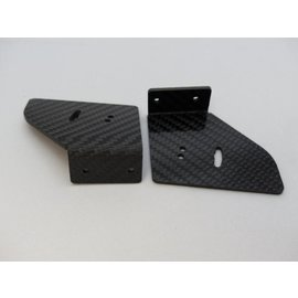 SCS M2 Carbon support R+L for rear spoiler