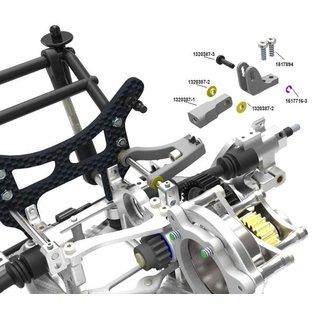 HARM Racing Alloy axle hub rear elevation SX-4 tuning, Set