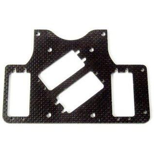 HARM Racing CFK/Carbon RC-Platte SX-4 2 kleine Lenkservos Push/Pull, Radstand 535 mm