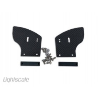Lightscale Support left/right, Carbon, for Touringcar Spoiler