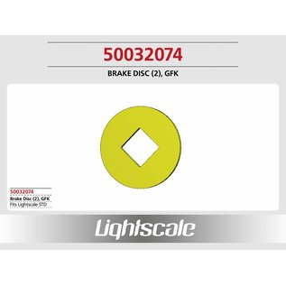 Lightscale Bremsscheibe GFK (2), groß f. STD