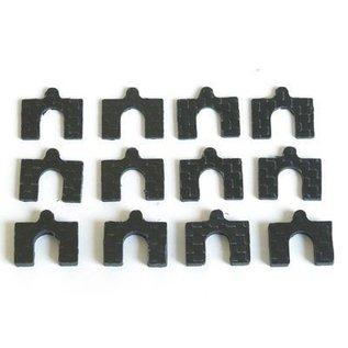 HARM Racing Carbon camber instelplaatjes, kit 2