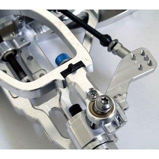 HARM Racing Aluminium-Kugelgelenk mit wechselbarer Kugelbuchse, M6 Linksgewinde, 2 Stk.