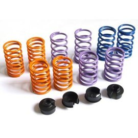 HARM Racing Springs short and progressive + 4 pcs. Spring collar