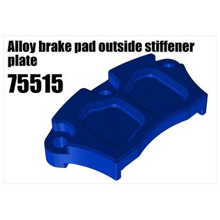 RS5 Modelsport Alloy brake pad outside stiffener plate