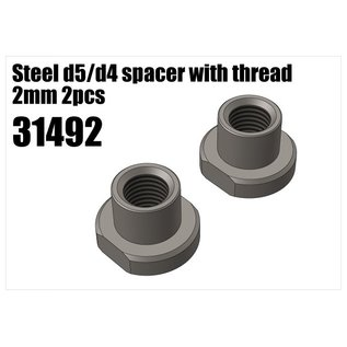 RS5 Modelsport Steel d5/d4 spacer with thread 2mm 2pcs