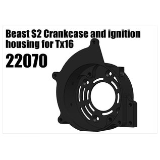 RS5 Modelsport Beast S2 Crankcase and ignition housing for Tx16