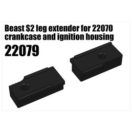 RS5 Modelsport Beast S2 leg extender for 22070 crankcase and ignition housing