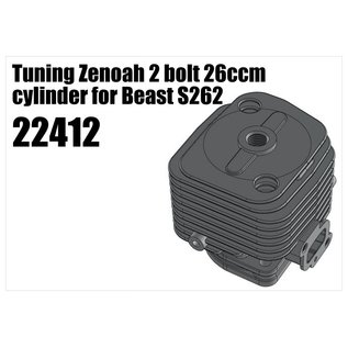 RS5 Modelsport Tuning Zenoah 2 bolt 26ccm cylinder for Beast S262