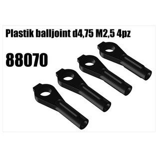 RS5 Modelsport Plastik balljoint d4,75 M2,5 4pcs