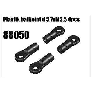 RS5 Modelsport Plastik balljoint d 5.7xM3.5 4pcs