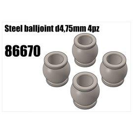RS5 Modelsport Steel balljoint d4,75mm