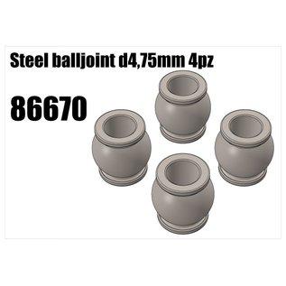 RS5 Modelsport Steel balljoint d4,75mm 4pcs