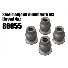 RS5 Modelsport Steel balljoint d6mm with M3 thread