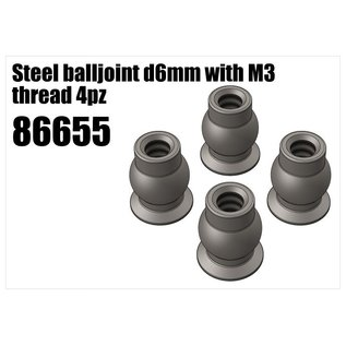 RS5 Modelsport Steel balljoint d6mm with M3 thread 4pcs