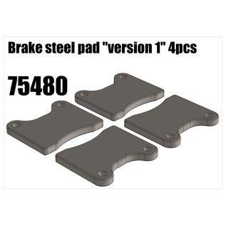 "RS5 Modelsport Brake steel pad ""version 1"" 4pcs"