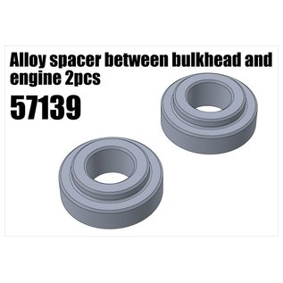 RS5 Modelsport Alloy spacer between bulkhead and engine 2pcs