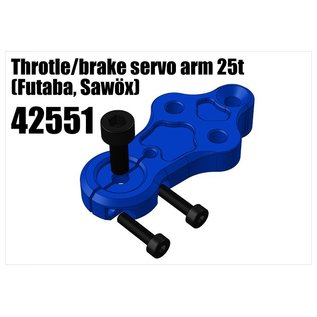 RS5 Modelsport Alloy Throtle/brake servo arm 25t (Futaba, Savöx)