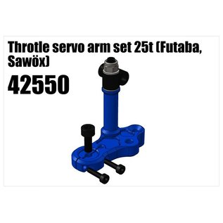 RS5 Modelsport Alloy Throtle servo arm set 25t (Futaba, Savöx)