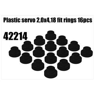 RS5 Modelsport Plastic servo 2,0x4,18 fit rings 16pcs