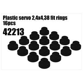 RS5 Modelsport Plastic servo 2,4x4,38 fit rings 1