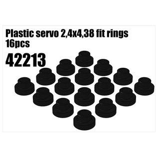 RS5 Modelsport Plastic servo 2,4x4,38 fit rings 16pcs