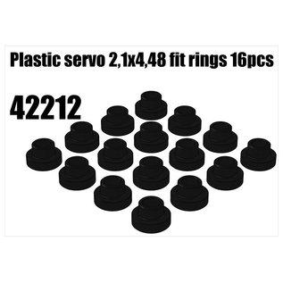 RS5 Modelsport Plastic servo 2,1x4,48 fit rings 16pcs