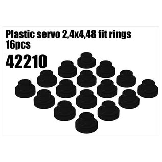 RS5 Modelsport Plastic servo 2,4x4,48 fit rings 16pcs