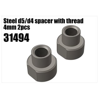 RS5 Modelsport Steel d5/d4 spacer with thread 4mm 2pcs