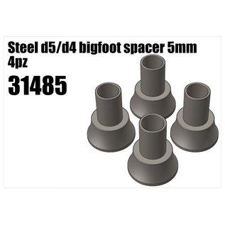 RS5 Modelsport Steel d5/d4 bigfoot spacer 5mm 4pcs