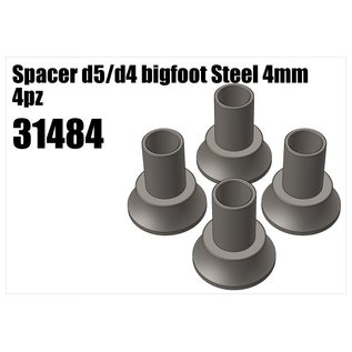 RS5 Modelsport Steel d5/d4 bigfoot spacer 4mm 4pcs