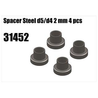 RS5 Modelsport Steel d5/d4 spacer 2mm 4pcs