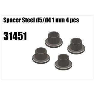 RS5 Modelsport Steel d5/d4 spacer 1mm 4pcs