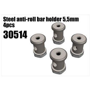 RS5 Modelsport Steel anti-roll bar holder 5,5mm 4pcs