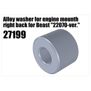 "RS5 Modelsport Alloy washer for engine mount right back for Beast ""22070-version"""