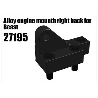 RS5 Modelsport Alloy engine mount right back for Beast