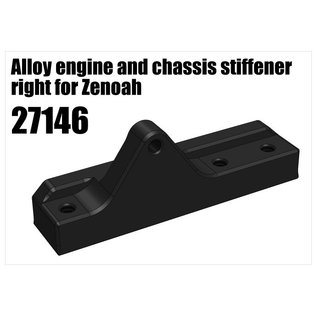 RS5 Modelsport Alloy engine and chassis stiffener right for Zenoah