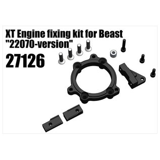 "RS5 Modelsport XT Engine fixing kit for Beast ""22070-version"" (27003, 27198, 27199, 22079)"