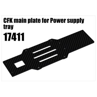 RS5 Modelsport CFK main plate for Power supply tray