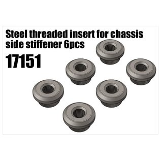 RS5 Modelsport Steel threaded insert for chassis side stiffener 6pcs
